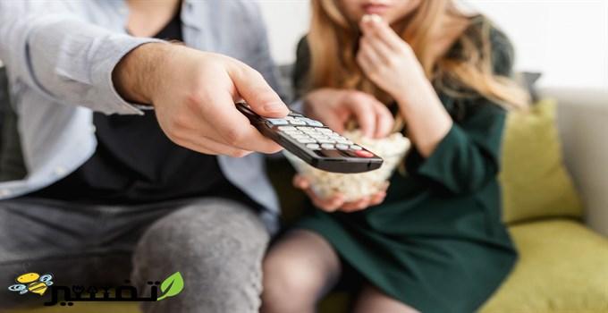 التلفزيون في المنام للعزباء