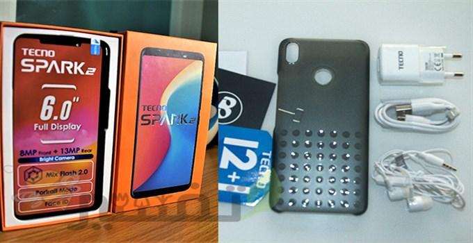 علبة هاتف Tecno spark 2