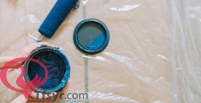 تفسير حلم دهان البيت باللون الازرق